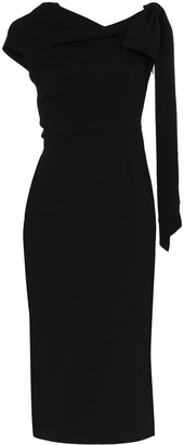 Roland Mouret Howe draped one-shouldered dress