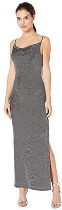BCBGeneration Cowl Neck Tie Back Maxi Knit Dress TMQ6252838 (Black) Women's Clothing