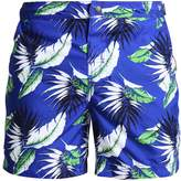 Superdry INTERNATIONAL SWIM Swimming shorts cobalt palm leaf