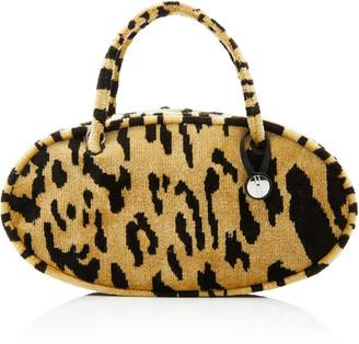 Hayward Pill Box Leopard-Print Brocade Bag