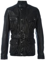 Belstaff belted leather jacket