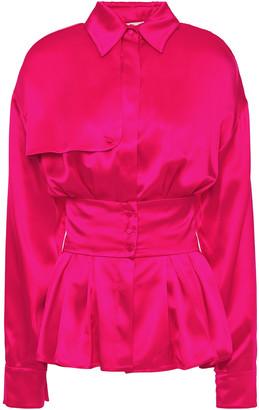 Antonio Berardi Pleated Silk-satin Shirt