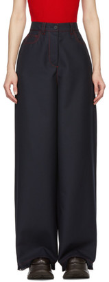 Sunnei Blue Over Fit Loose Trousers