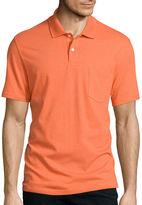 ST. JOHN'S BAY St. John's Bay Short-Sleeve Jersey Pocket Polo Shirt
