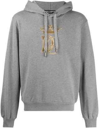 Dolce & Gabbana Logo-Embroidered Hoodie