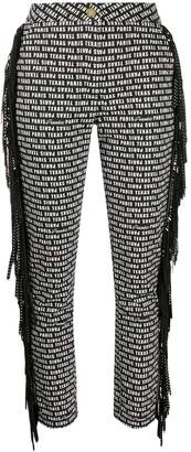 Frankie Morello logo print cropped trousers