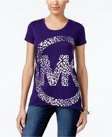 MICHAEL Michael Kors Leopard-Print Logo T-Shirt