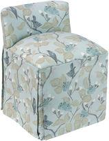 Skyline Furniture Eliza Vanity Stool, Blue Chinoiserie