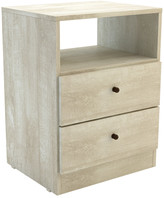International Home Miami Mid-Century 2 Drawer Nightstand