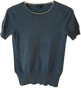 Brooks Brothers Blue Cotton Top for Women