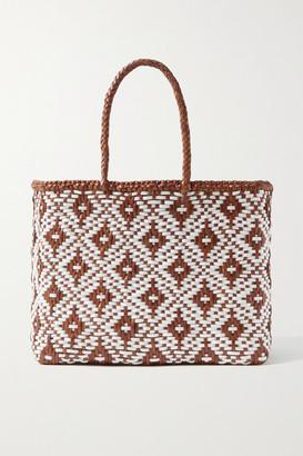 DRAGON DIFFUSION Kumari Small Woven Leather Tote - Tan