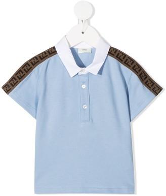 Fendi Kids FF-trim polo shirt