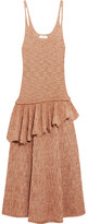 Lemaire Ruffled Knitted Midi Dress - Blush