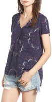 Hinge Women's Print V-Neck Blouse