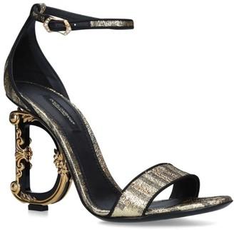 Dolce & Gabbana Baroque Heel Sandals 100
