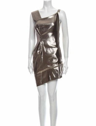 Roland Mouret Silk Mini Dress Gold