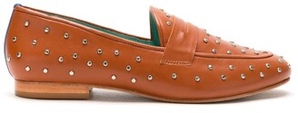 Blue Bird Shoes Stud-Detail Leather Loafers