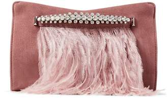 Jimmy Choo Suede Embellished Venus Clutch Bag