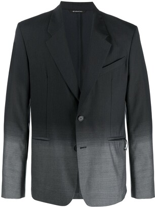 Givenchy Single-Breasted Gradient Jacket