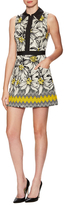 Alice + Olivia Ellis Cotton Jacquard Fit And Flare Dress