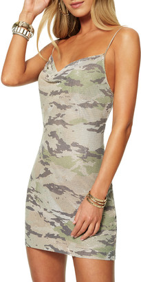 Ramy Brook Lyla Camo Metal Mesh Cocktail Dress
