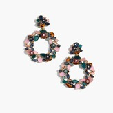 J.Crew Colorful floral hoop earrings