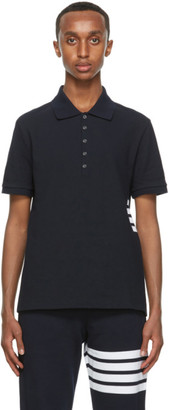 Thom Browne Navy Stripe 4-Bar Polo