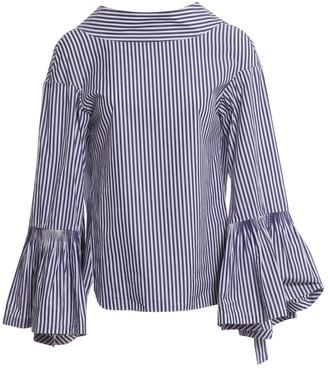 Teija Blue Cotton Top for Women