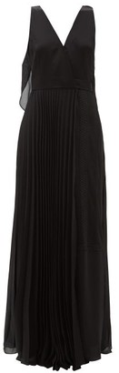 ZEUS + DIONE Terpsichore Draped-back Crepe Dress - Black