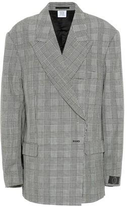Vetements Houndstooth wool blazer