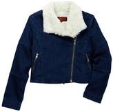 7 For All Mankind Denim Faux Fur Jacket (Big Girls)