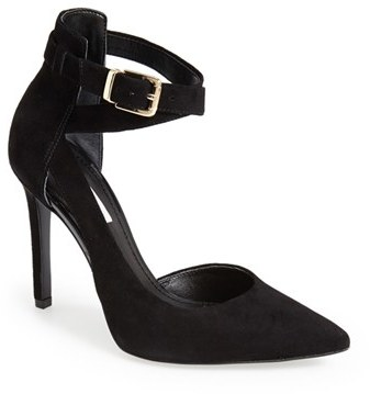 GUESS 'Ambelu' Ankle Strap Pointy Toe Pump (Women)