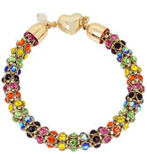 Betsey Johnson Rainbow Connection Mesh Bracelet