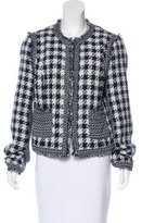 Tory Burch Long Sleeve Distressed Blazer