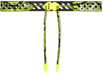 Off-White Neon Snake-effect Leather Belt - Yellow
