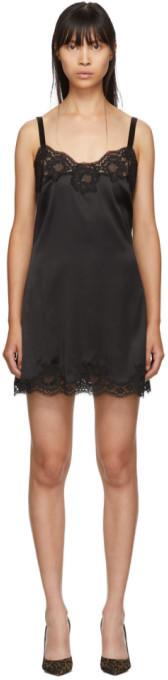 Dolce & Gabbana Black Silk Short Dress