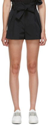 RED Valentino Black Taffeta Shorts