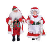 Asstd National Brand Mr. & Mrs. Claus- Set of 2