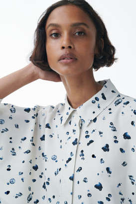 Cos Wide Printed Cotton Shirt
