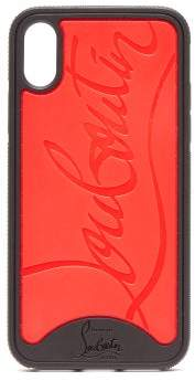 Christian Louboutin Loubiphone Rubber Iphone Xr Case - Mens - Black Red