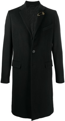 Givenchy G-pin single-breasted wool coat