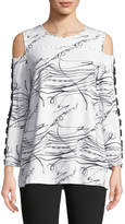 Berek Cold-Shoulder Squiggle Tee