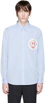 Visvim Blue Embroidered Pocket Shirt