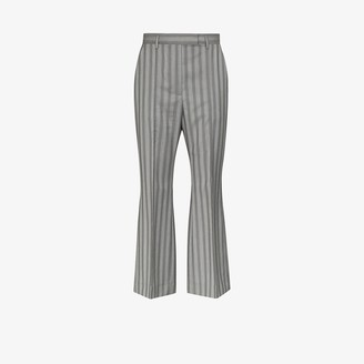 Acne Studios Pinstripe Wool Flared Trousers