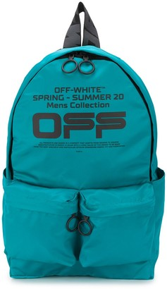 Off-White logo-printed backpack