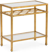Chelsea House Quatrefoil Side Table - Antiqued Gold