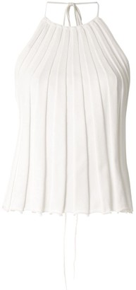 CHRISTOPHER ESBER Pleated Backless Top