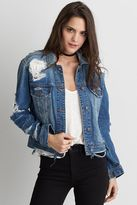 American Eagle Outfitters AE Destroyed Denim Jacket