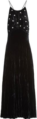 Miu Miu Crushed Velvet Embellished Gown