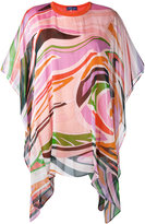 Emilio Pucci draped printed blouse - women - Silk/Cotton - S